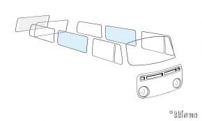 Vetri e Accessori per VW Bus T2